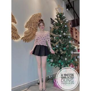 12C25B1 Chân váy ngắn xếp ly bản to khoe chân xinh mông tròn, freesize vòng eo M L, dưới 53kg
