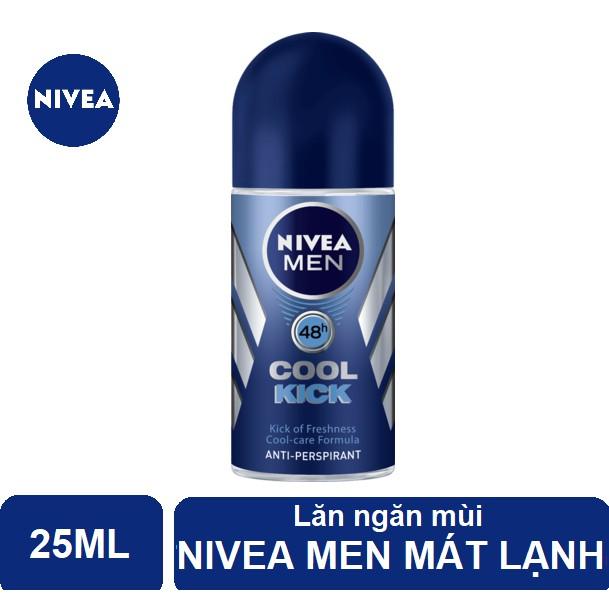 Lăn ngăn mùi Nivea Men mát lạnh Cool Kick 25ml - 82978