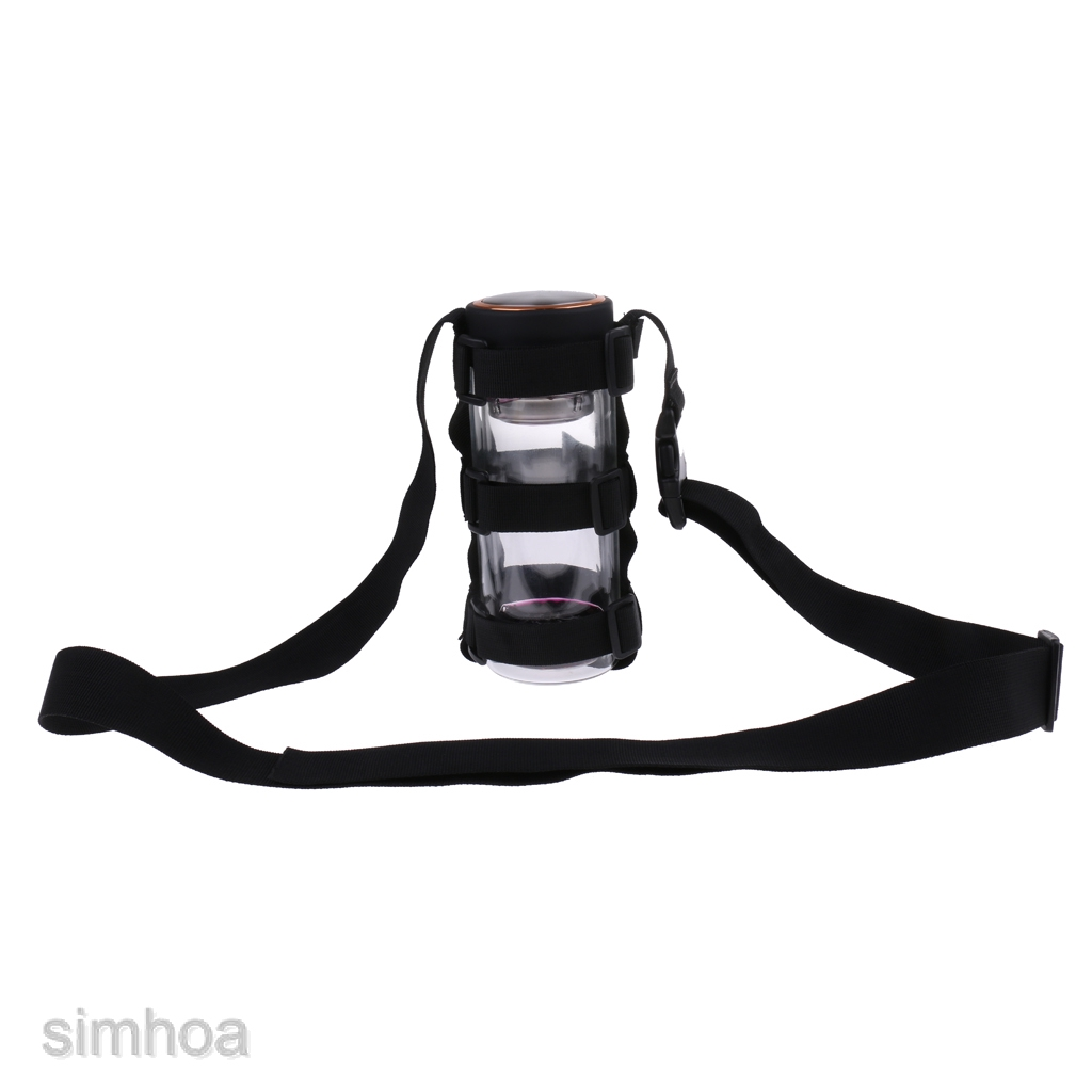 Durable Nylon Cycling Travel Water Bottle Carrier Holder With Shoulder Strap