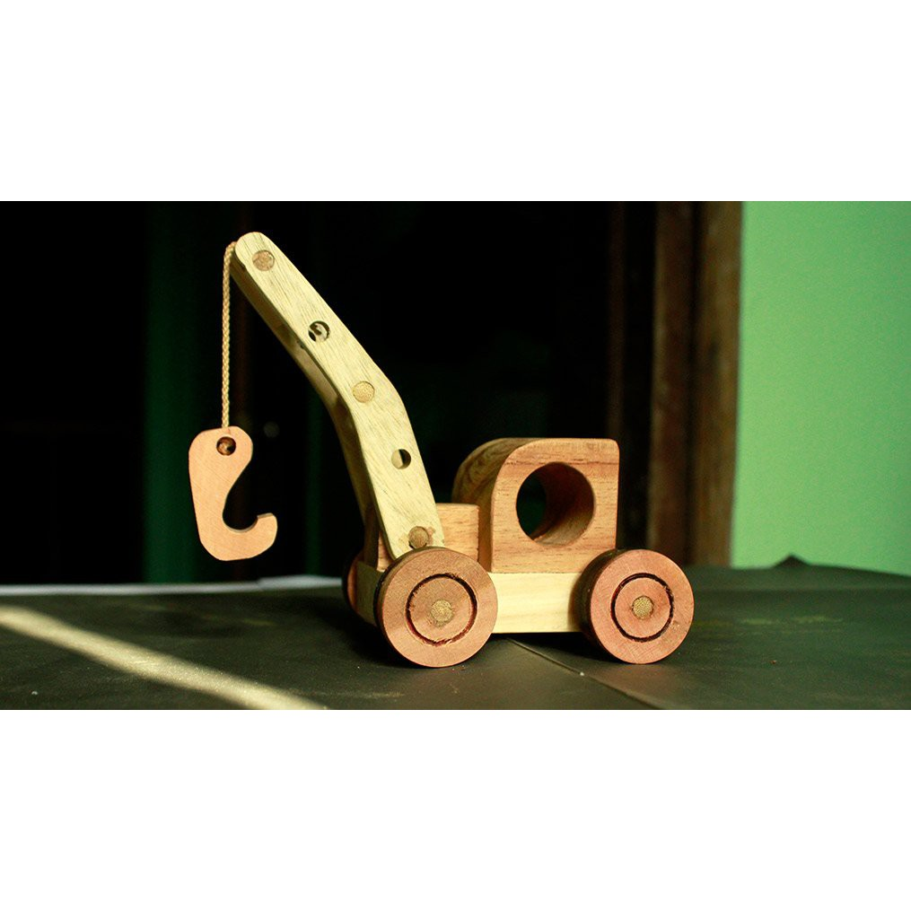 Đồ chơi gỗ phát triển trí tuệ Máy Móc Cẩu Đồ Chơi Bằng Gỗ