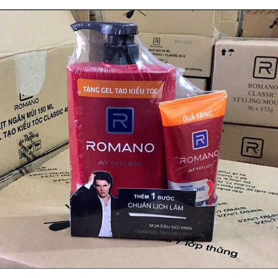 Combo Romano Attitude 650 g + tặng kèm Gel Vuốt tóc 120 g