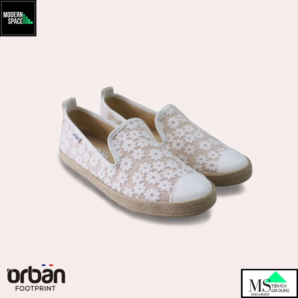 (GIÀY NỮ) Giày sneaker Nữ Urban UL1821 Thêu ren màu trắng (VNXK) [CHÍNH HÃNG]