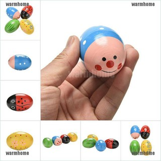 warmhome 1 Pcs Wooden Sand Eggs Children Kids Baby Educational Instruments Musical Toys thro