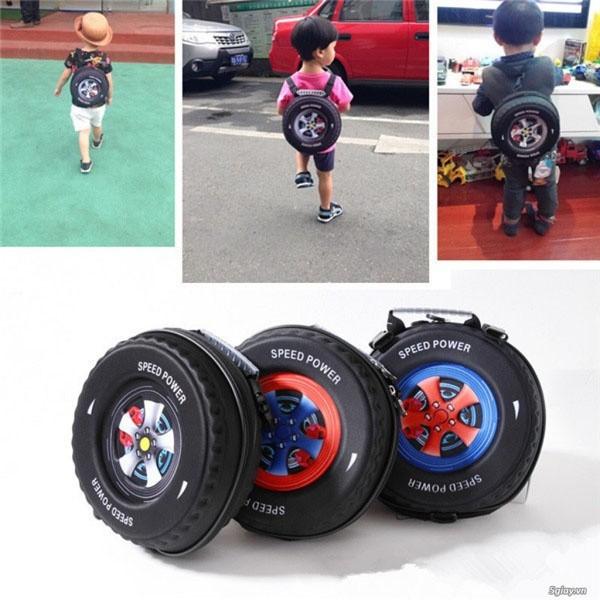 Ba lô hình bánh xe 3D cho bé