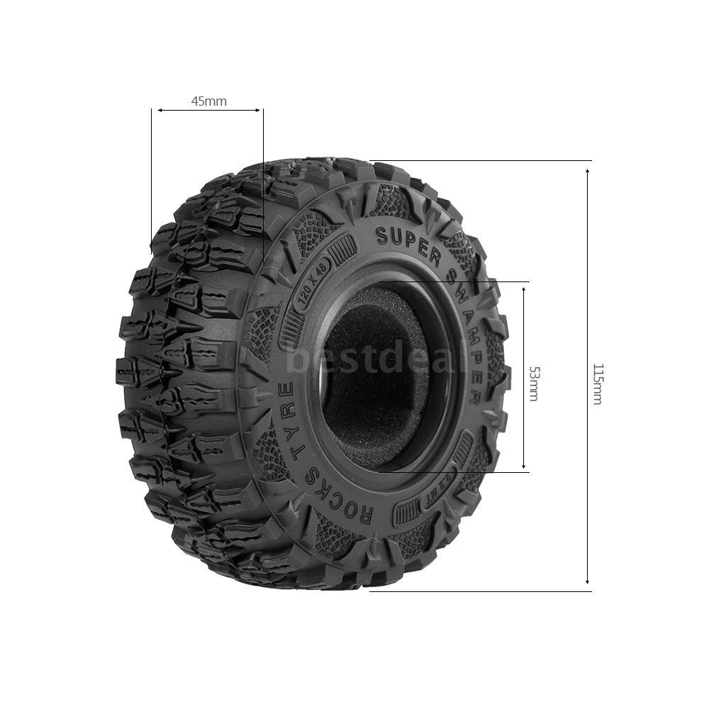 4PCS AX6021 2.2 Inch RC Car Wheel Tire for 1/10 Traxxas Hsp Redcat Rc4wd Tamiya Axial scx10 D90 Hpi Crawler