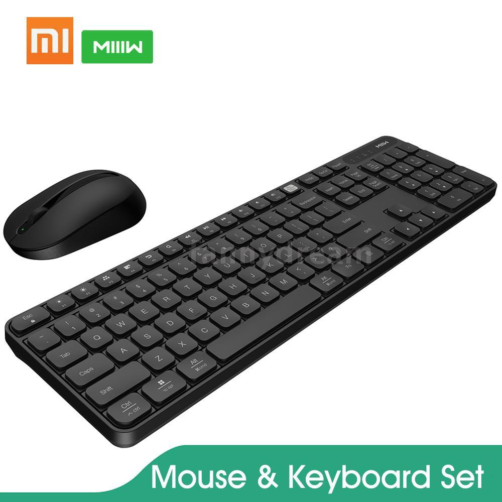 bộ gồm bàn phím và chuột Xiaomi MIIIW không dây kết nối 2.4Ghz có 104 phím tiện dụng