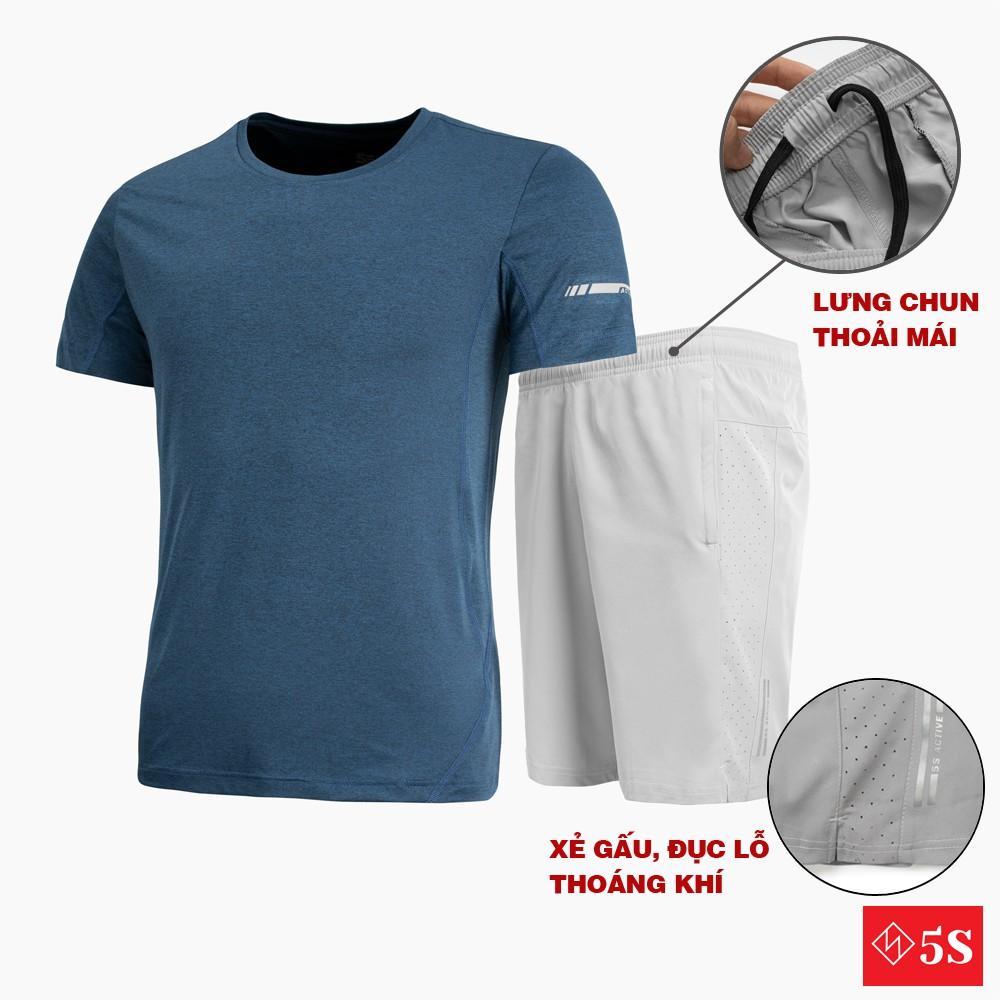 Mặc gì đẹp: Bộ Thể Thao Nam 5S (8 màu), Chất Liệu Coolmax Siêu Mát, Dáng Thể Thao Trẻ Trung, Năng Động (BTSO21051)