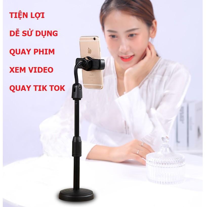 Giá Đỡ Điện Thoại Để Bàn Kẹp Điện Thoại Livestream Xem Video Xoay 360 Độ