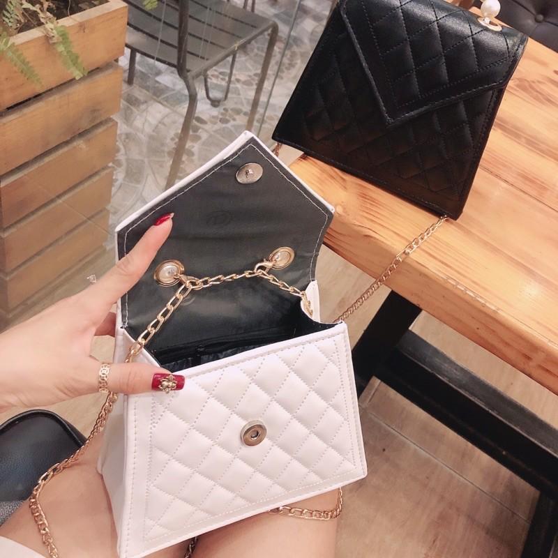 Túi xách nữ đẹp đeo chéo quai ngọc nhân tạo phong cách hàn quốc HT256