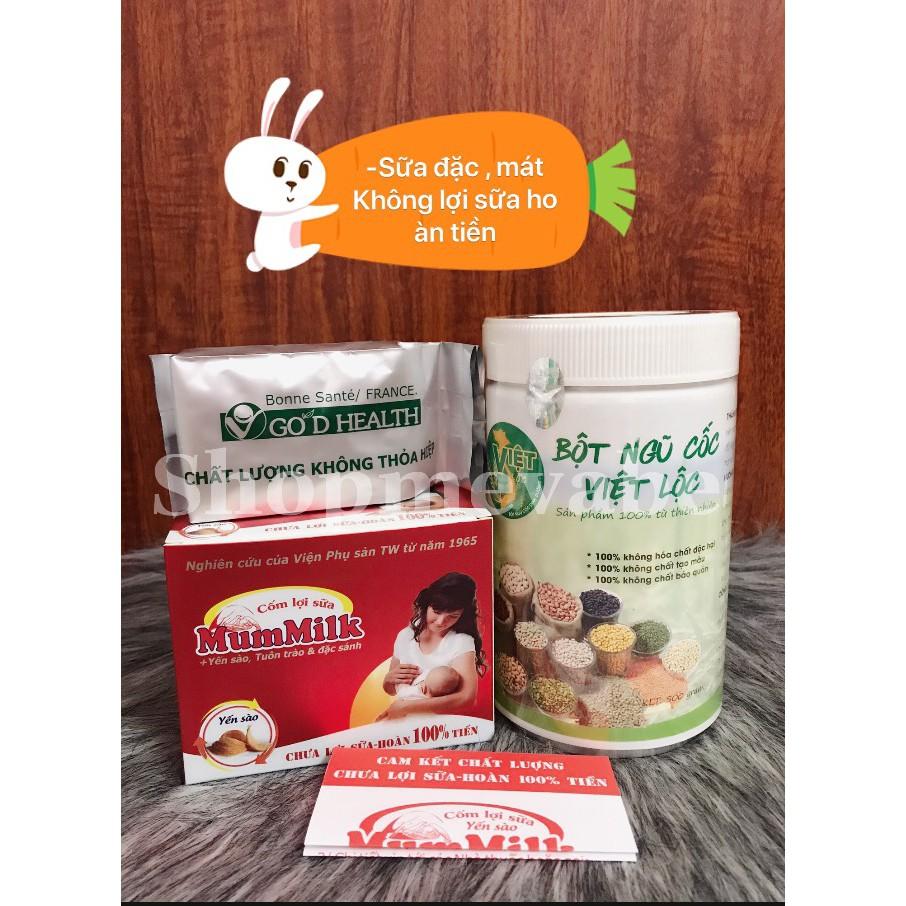 Ngũ cốc lợi sữa kết hợp cốm yến sào 500gr - sữa đặc ,mát -không lợi sữa hoàn tiền (...