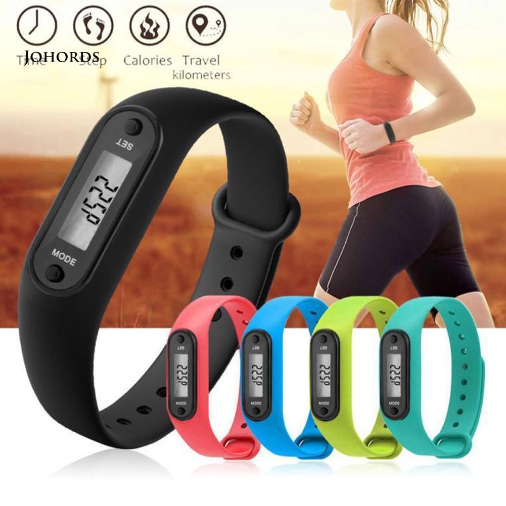 SE EJ-Run Step Walk Watch Bracelet Pedometer Calorie Counter LCD Distance Wrist Band