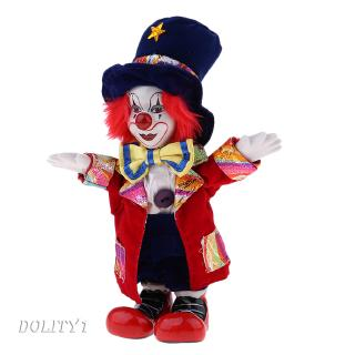 18cm Porcelain Dolls Funny Clown For Kids Birthday Gifts Toy Home Decoration
