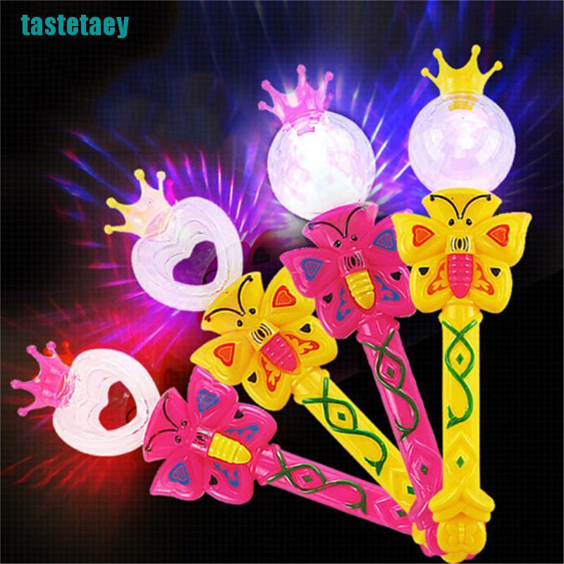 【tastetaey】Magic Lighting Stick Toys Flashing Glowing Light Up Wands Luminous Gift Toys