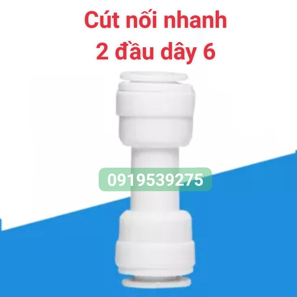 (TỔNG HỢP) Cút nối nhanh ống nước máy lọc nước Nhiều loại (Cút nối thẳng - Cút góc - Cút T) Dây 6 Dây 10