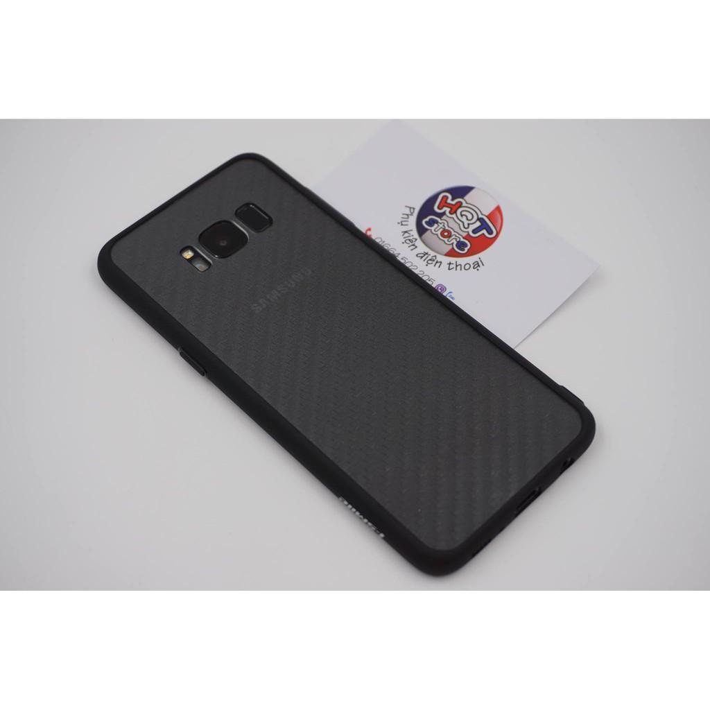 Ốp lưng trong suốt viền màu iSmile siêu mỏng Samsung S8 / S8 Plus