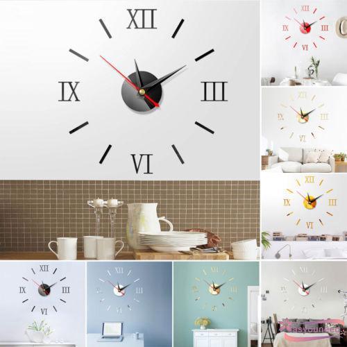 Đồng hồ dán tường trang trí có chữ số 3D độc đáo