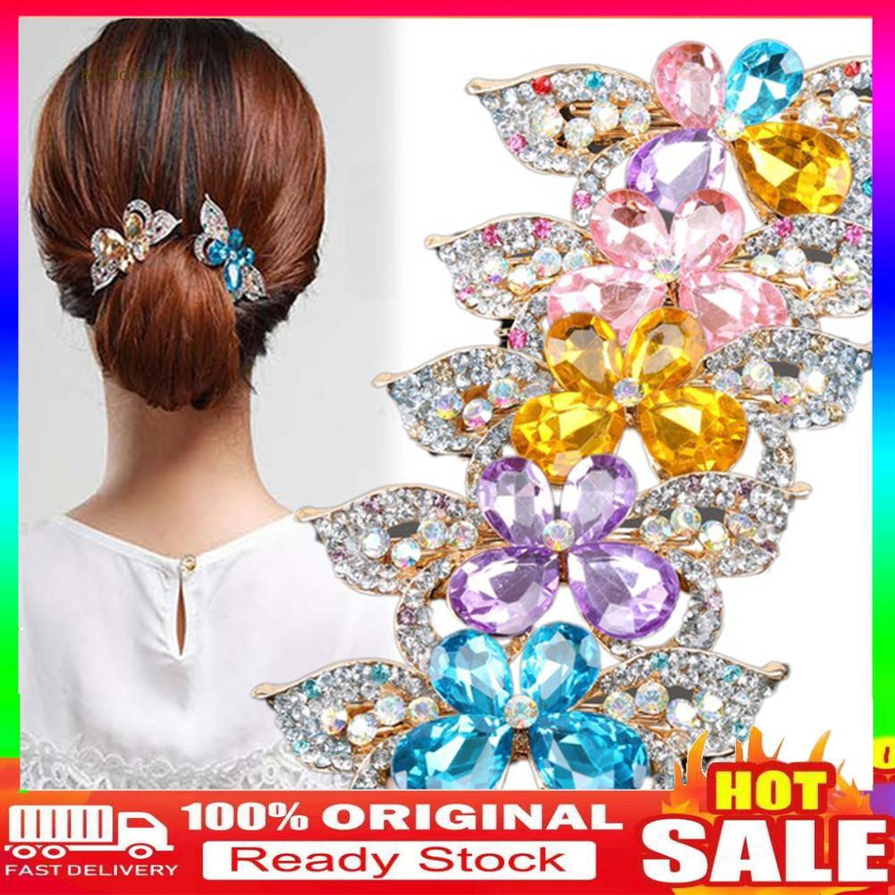 Kẹp tóc hình bướm đính đá phong cách Hàn Quốc thanh lịch dành cho nữ - 21841889 , 2885951958 , 322_2885951958 , 39000 , Kep-toc-hinh-buom-dinh-da-phong-cach-Han-Quoc-thanh-lich-danh-cho-nu-322_2885951958 , shopee.vn , Kẹp tóc hình bướm đính đá phong cách Hàn Quốc thanh lịch dành cho nữ