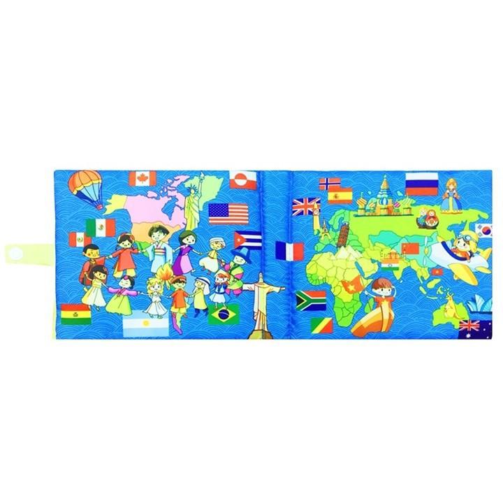 [SALE SẬP SÀN] ComBo 3 Sách Vải Giáo dục mầm non-Chủ đề Giao thông-Thời tiết-Vòng quanh thế giới-nên mua