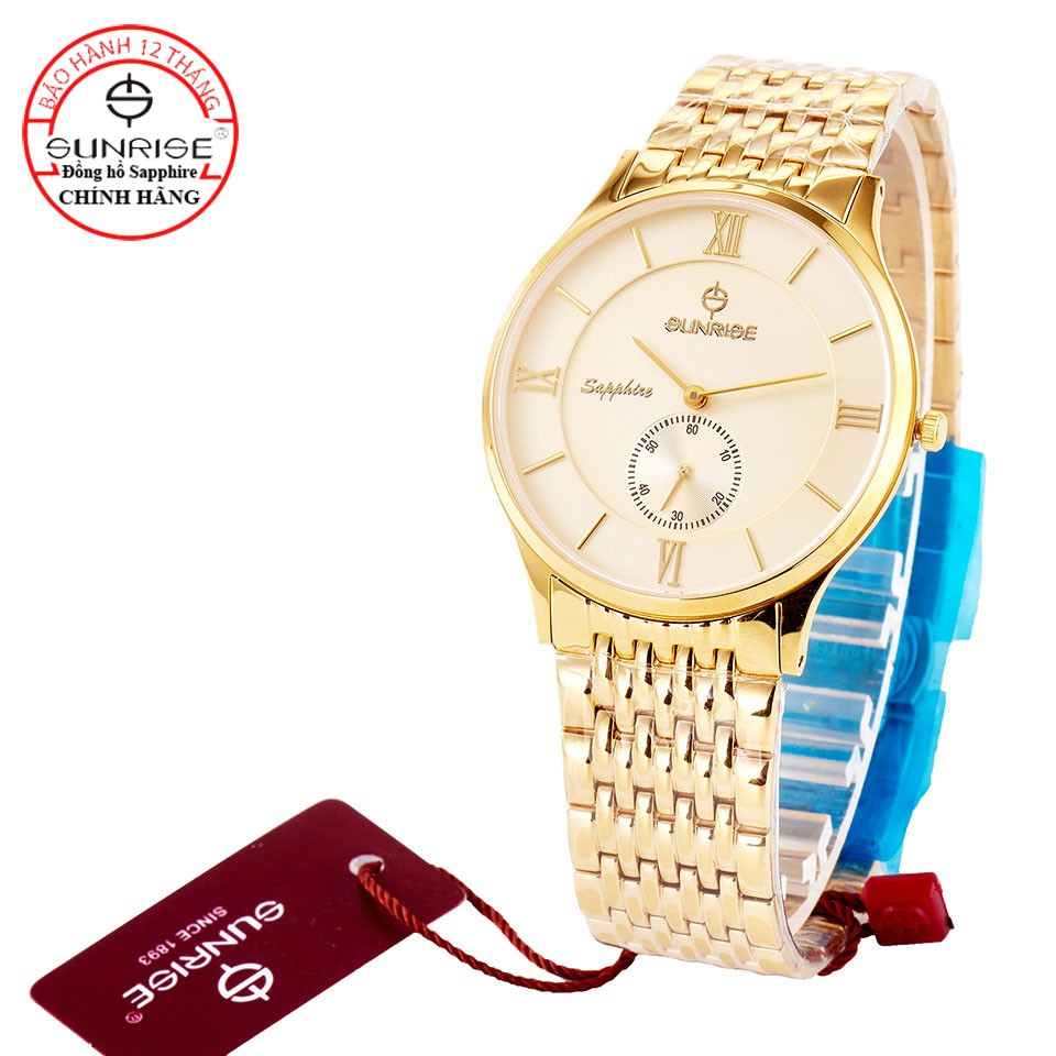 [Fullbox chính hãng] Đồng hồ nam Sunrise 1109SA 2 kim rưỡi kính Sapphire chống xước