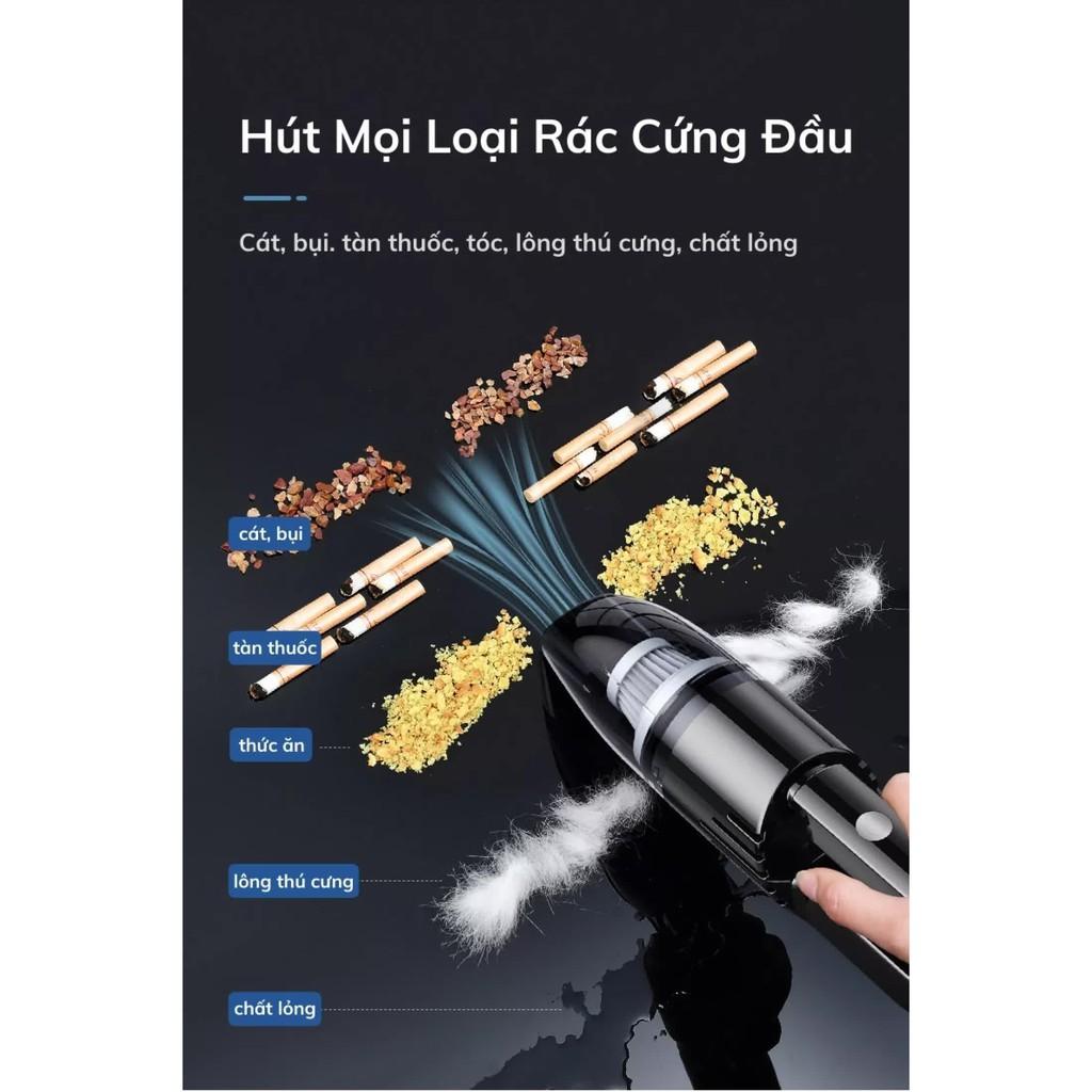 Máy Hút Bụi Cầm Tay Mini Không Dây máy hút bụi KHÔNG DÂY DELIYA MINI ĐEN-120W