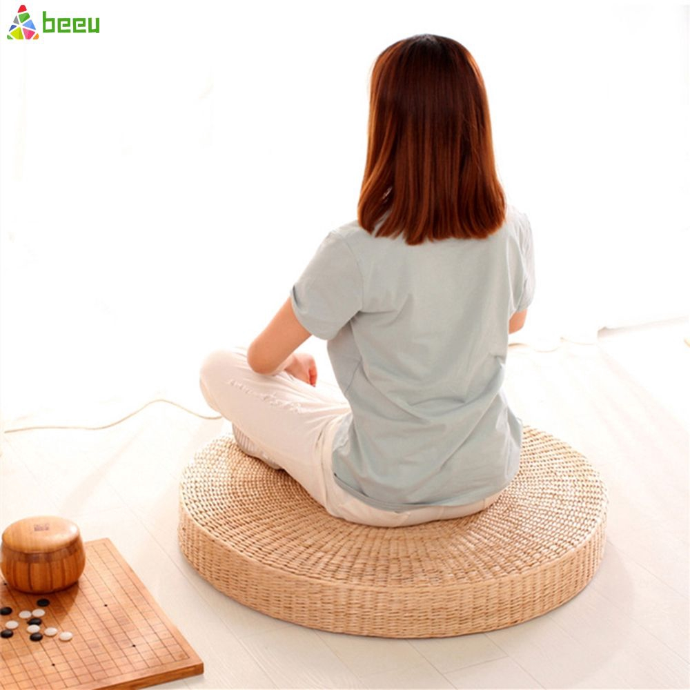 【COD】 40cm Rattan tea ceremony worship Buddha pad meditation thickening meditation pupa sitting futon cushion tatami yoga mat 【Beeu】