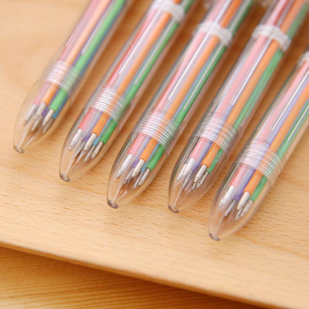 Bút bi nhiều màu thiết kế 6 trong 1 hoặc 8 trong 1 ngòi 0.5mm tiện dụng 6