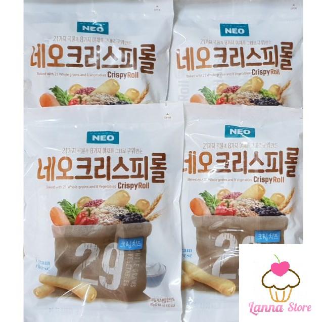 Combo 4 Túi Bánh Cuộn Ngũ Cốc Hàn Quốc 29 Vị Neo CrispyRoll 80g