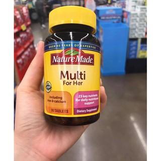 Vitamin tổng hợp cho nữ Nature Made Multi For Her 60 viên