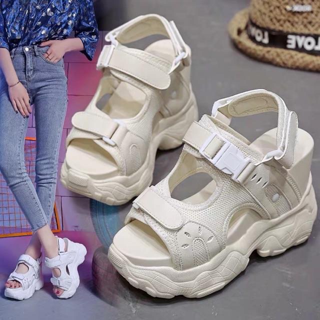 ORDER Giày Sandal đế bánh mì (xuồng) 12cm đu concert khu Standing bao xịn =))))))