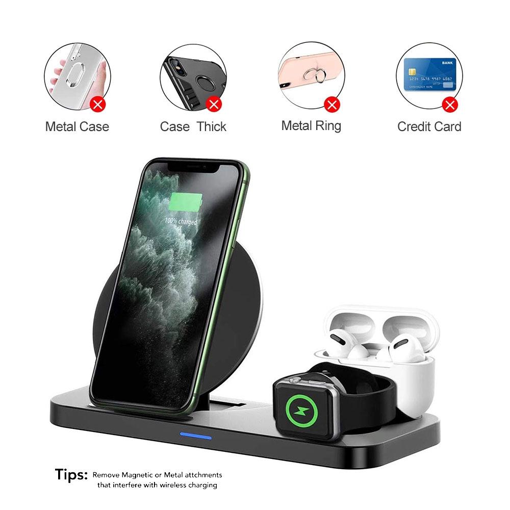 Đế Sạc Không Dây 3 Trong 1 Cho Iphone Samsung Và Airpods