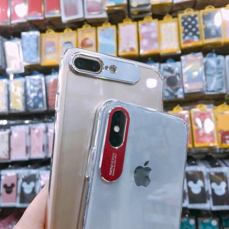 Ốp lưng Iphone 7+/X trong suốt bảo vệ camera - OP-TOTU-BVECAM