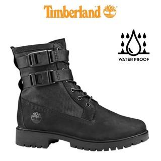 Giày Boot Nữ Cổ Cao Jayne Double Buckle Màu Đen Timberland TB0A22XA thumbnail