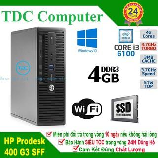 Case máy tính để bàn HP ProDesk 400 G3 main H110, cpu core i3 6100, ram 4GB, SSD 120GB. Hàng Nhập Khẩu.