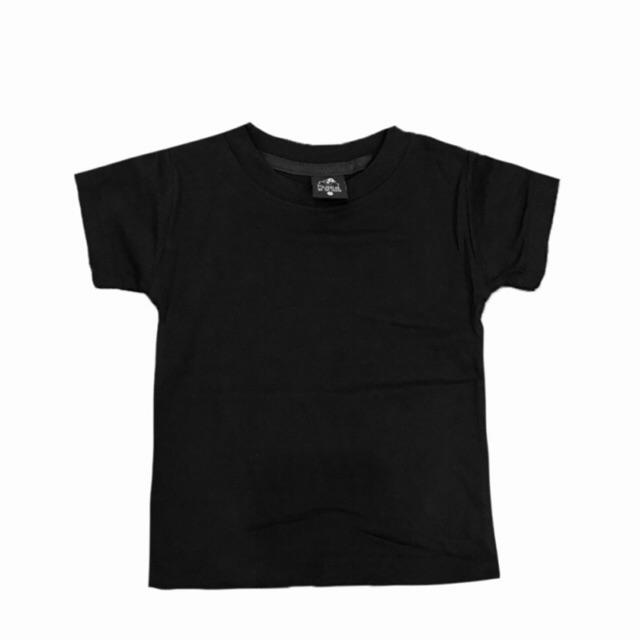 เสื้อยืดเด็กสีขาวดำ