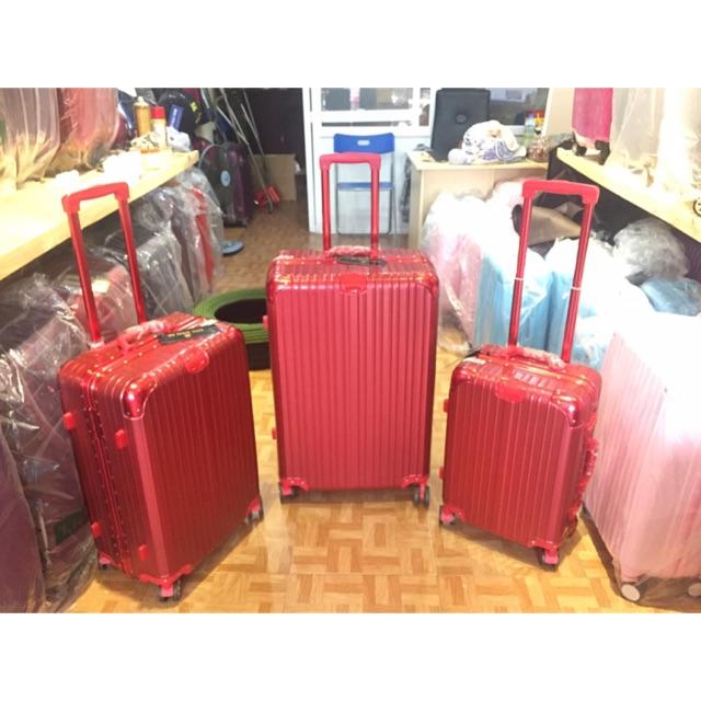 Com bo 1 bộ vali khung nhuôm khoá sập sz 20inch-24inch và 1 túi du lịch