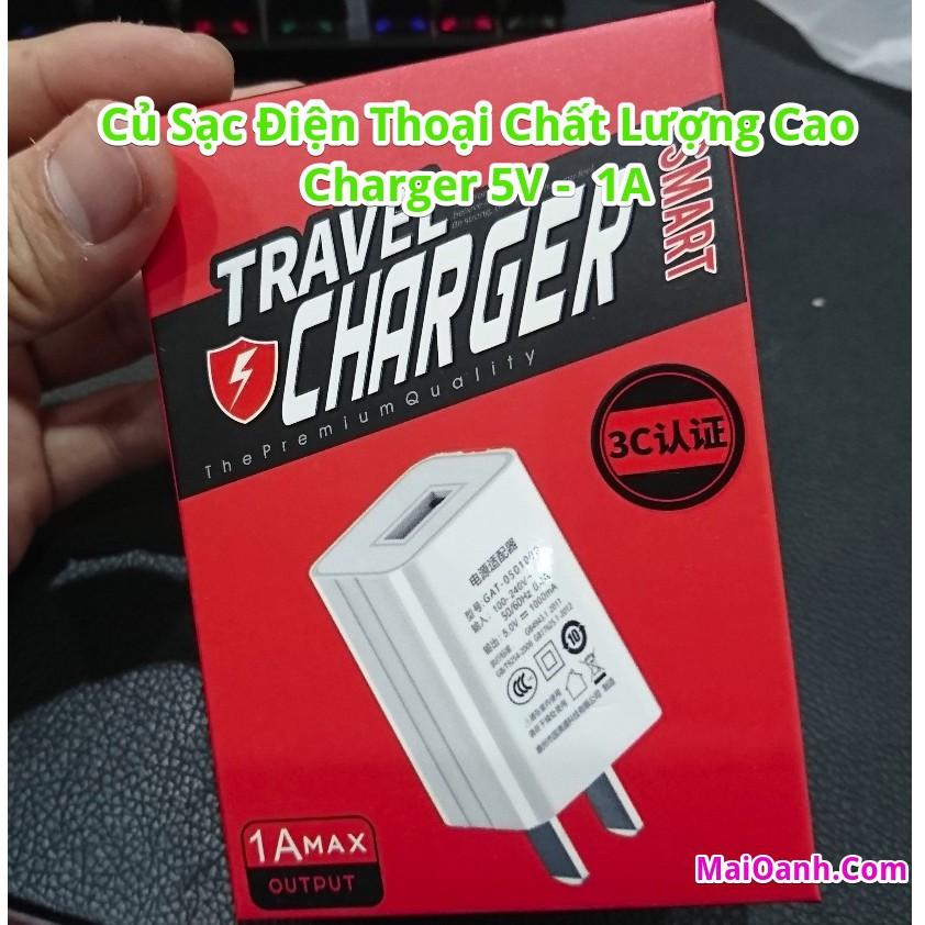 Củ sạc chất lượng cao Charger 5V 1A - Hàng nội địa Trung Quốc
