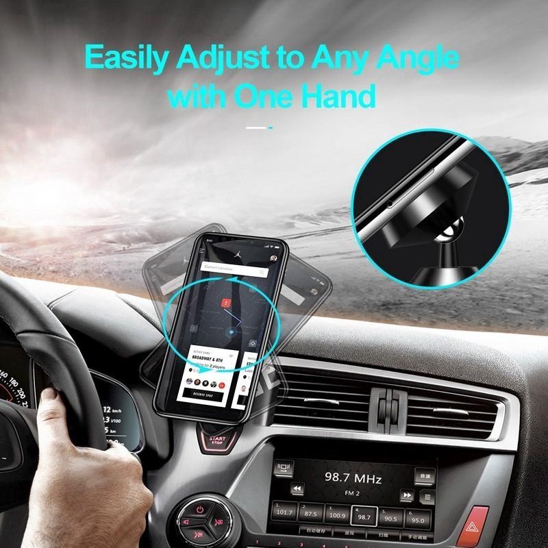 Từ tính Giá đỡ điện thoại trên ô tô Giá đỡ trong ô tô cho Iphone Samsung Huawei Xiaomi Oppo Nam châm Air Vent Mount Điện thoại di động