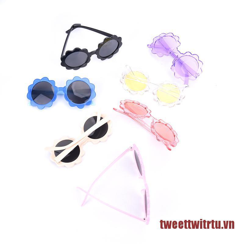 TRTU Kids Polarized Sunglasses Round Flower Edge Children Uv400 Outdoor Eyewear