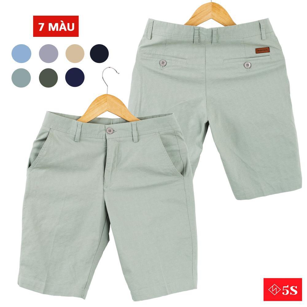 Quần Short KaKi Nam 5S (7 màu), Kaki Giấy, Thấm Hút Mồ Hôi, Co Giãn Tốt.