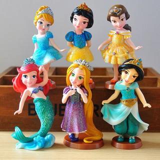 Bộ 6 mô hình nhân vật hoạt hình công chúa Disney
