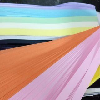 Combo 1350 giấy xếp sao. Gồm 10 màu như hình