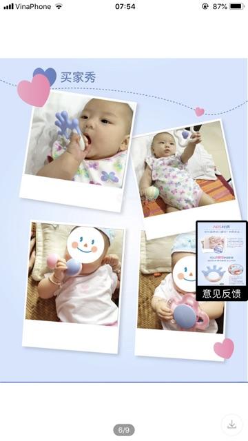 Set đồ chơi xúc sắc, gặm nướu Baby Goryeo