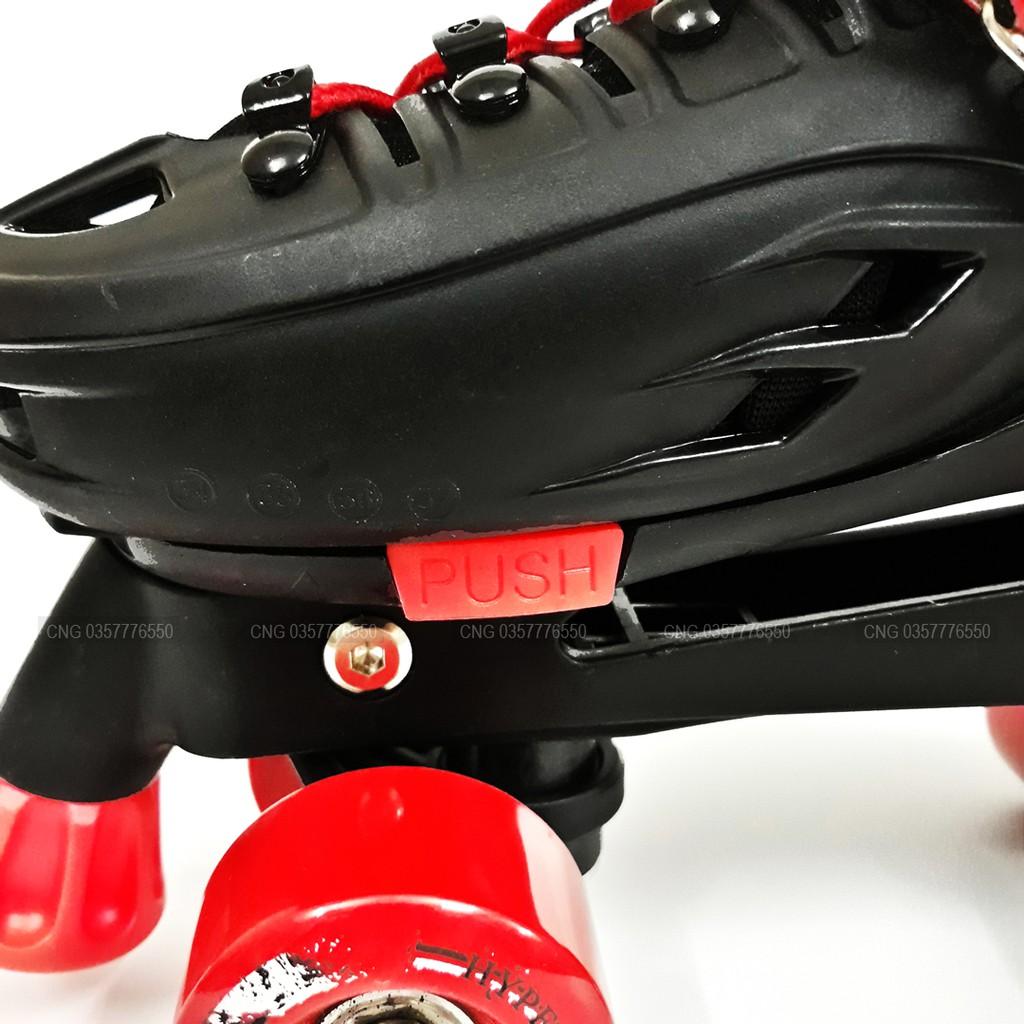Giày Trượt Patin 2 Hàng Bánh Cao Cấp Đủ Size Cho Trẻ Em Và Người Lớn