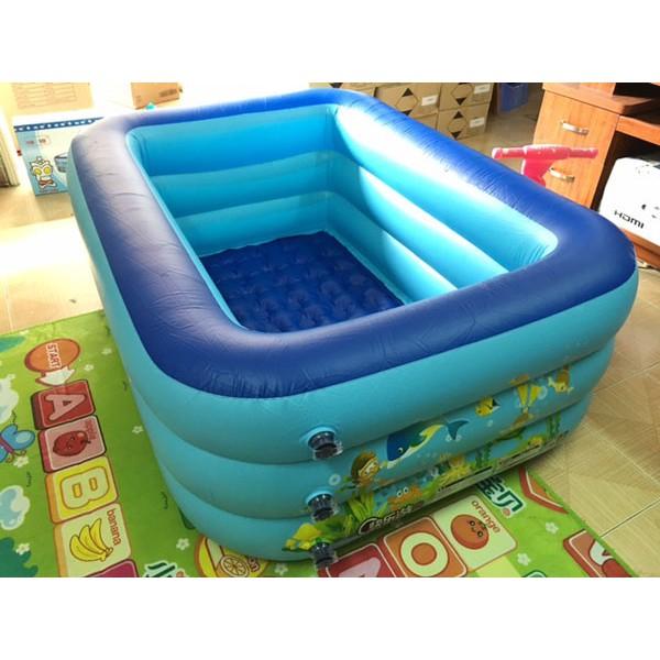 bể bơi chữ nhật 1,8 mét 3 tầng