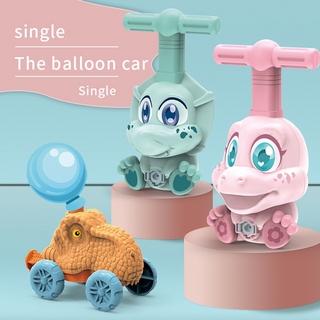 LT02-Balloon Powered Dinosaur Car Aerodynamics Dinosaur Birthday Educational Toy