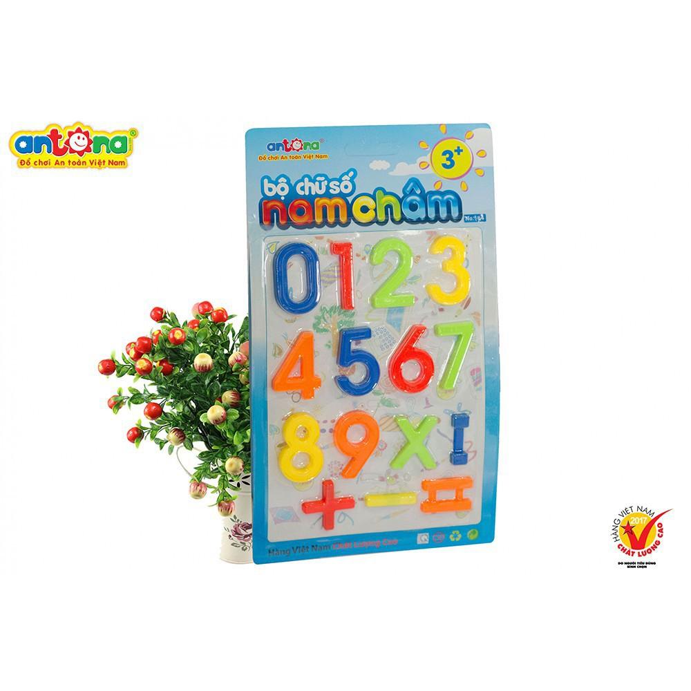 Combo 4 vỉ nam châm bao gồm 1 vỉ chữ thường - 1 vỉ chữ hoa - 1 vỉ số...