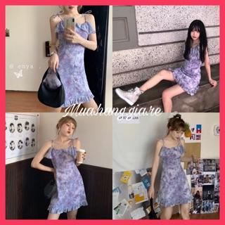[Mã GIARE giảm 10% đơn 99k] ảnh thật VÁY order Taobao màu tím style Hàn Quốc ulzzang