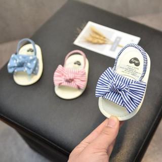 [Hàng Cao Cấp] Giày tập đính nơ xinh xắn đáng yêu cho bé| Dép tập đi chống trơn trượt cho bé từ 0-24 tháng