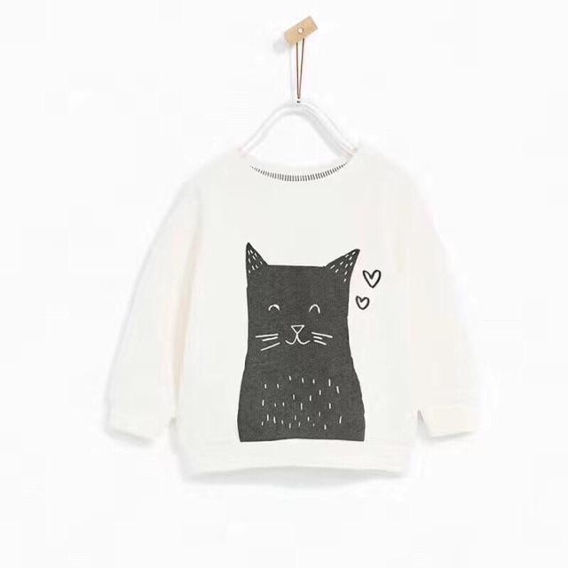 Áo nỉ mèo Zara