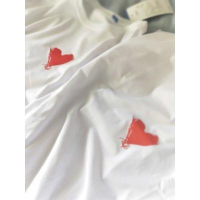 áo đôi hình tim đỏ cục đẹp